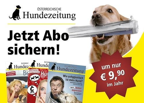 Jetzt Hundezeitung Abo sichern und bestellen.
