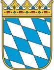 Baden mit Hund in Deutschland und Bayern Staatswappen Bayern