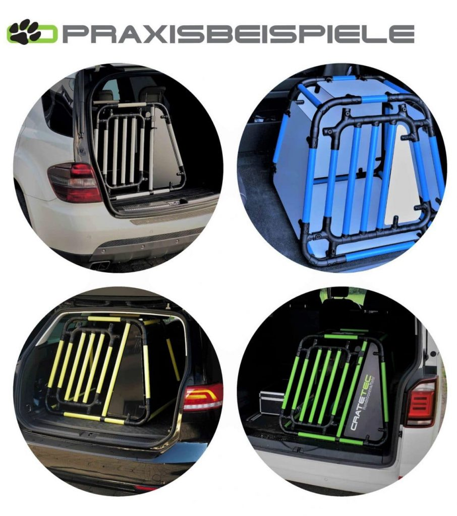 Die Hundebox von CrateTec für den sicheren Transport von Hund im Auto