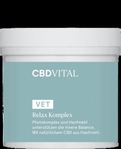 cbd vital relax komplex pulver nahrungsergänzer entspannung stress sanfte alternativen für hunde hanf