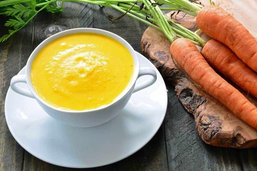 Morosuppe, Morosche Karottensuppe für den Hund.